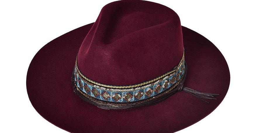 Sombrero tolum vinotinto