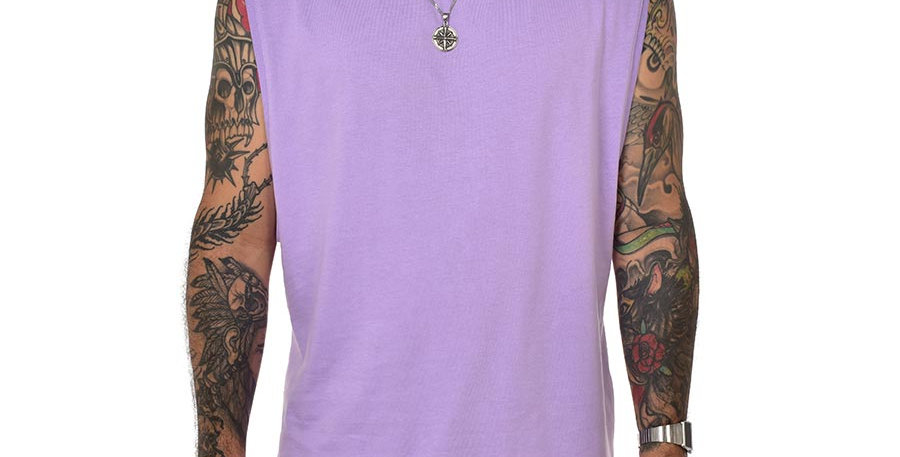 Camiseta sin mangas lila