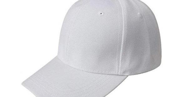 Gorra beisbolera blanca basica