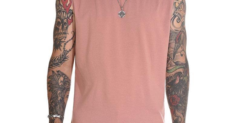 Camiseta sin mangas en rosa