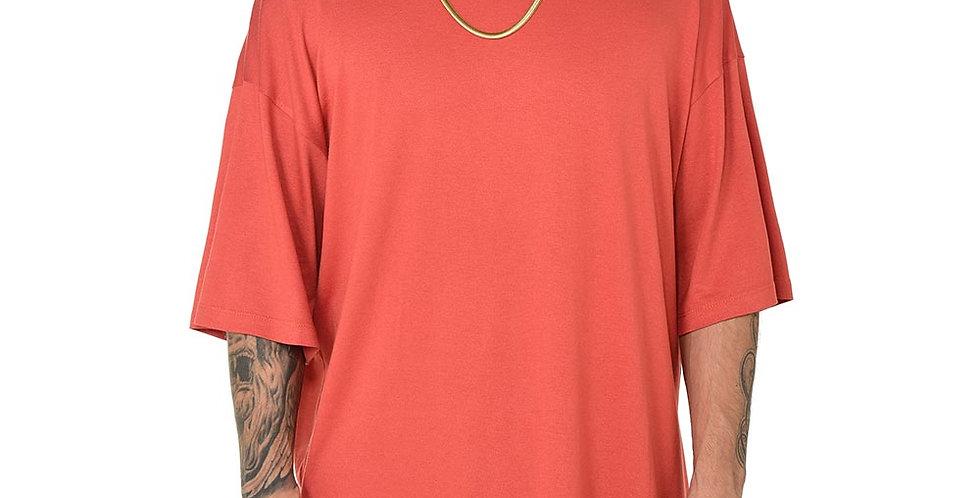 Camiseta boxy fit oversize extragrande orange