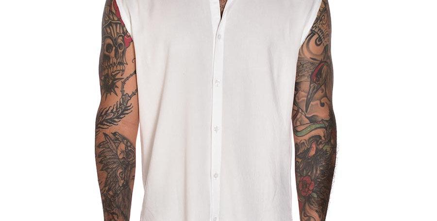 Camisa sleeveless en blanco