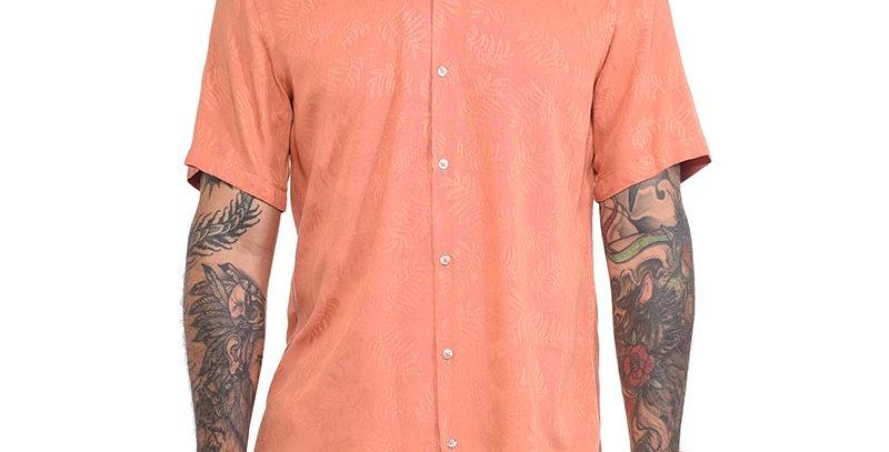 Camisa regular fit foliage salmon