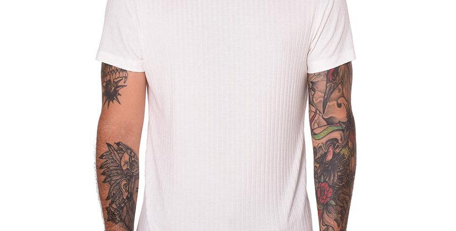 camiseta cuello tortuga blanco  slim