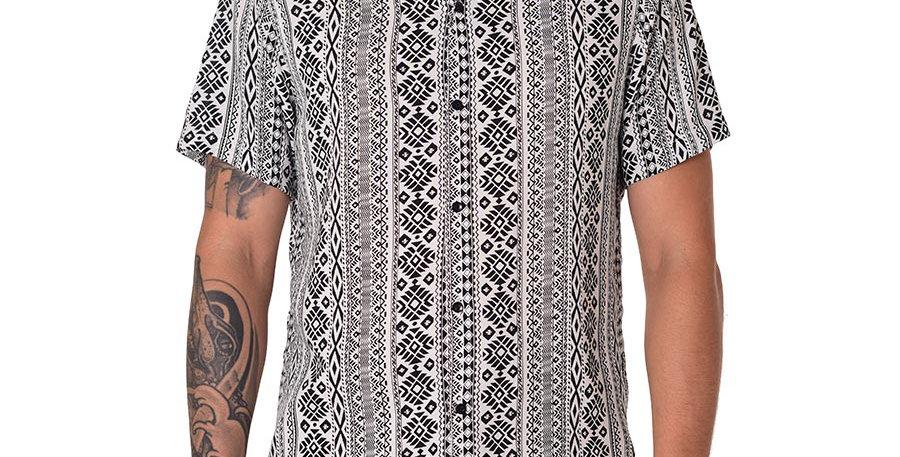 Camisa regular fit etnica b&n