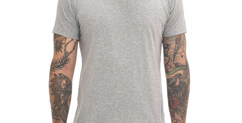 Camiseta super slim básica gris jaspe