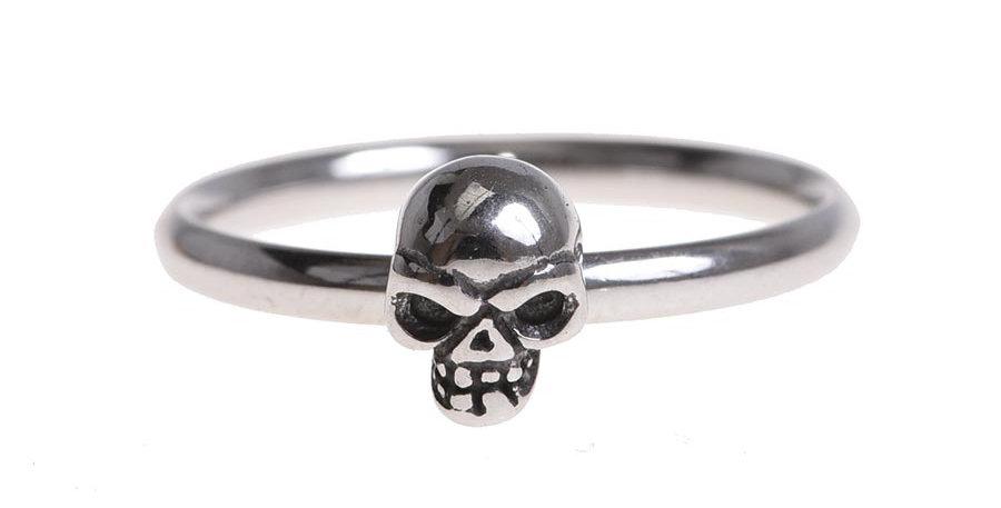 Anillo skull plateado