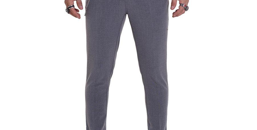 Pantalon carrot fit gris