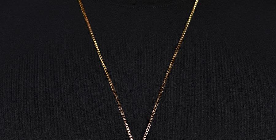 Collar serpiente dorado 70cm