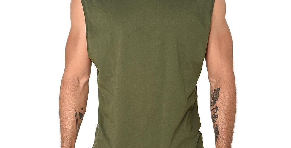 Camiseta sin mangas en verde militar