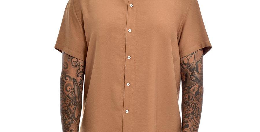 Camisa semi-oversized miel unicolor