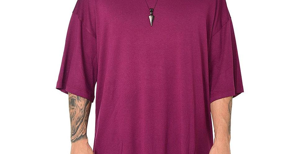 Camiseta boxy fit oversize extragrande violet