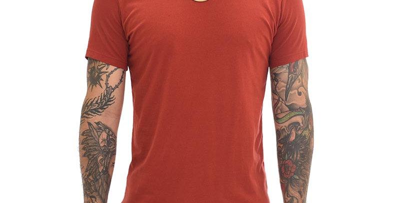 Camiseta super slim básica vinotinto
