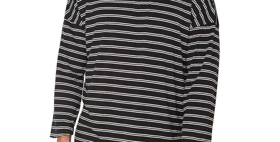 Boxy fit oversized long sleeve black