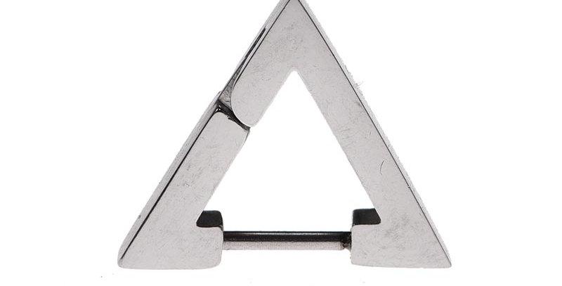 Arete triangular plateado