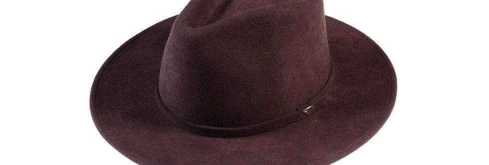 Sombrero western marrón