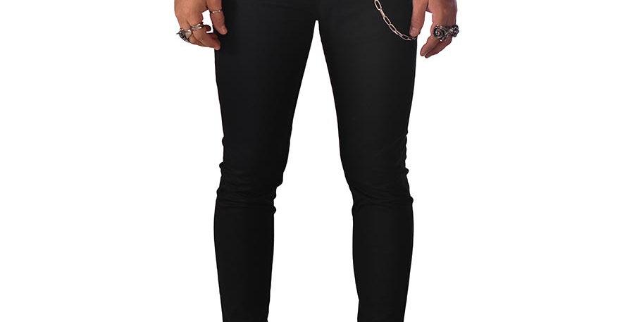 Pantalon skinny negro en dril stretch