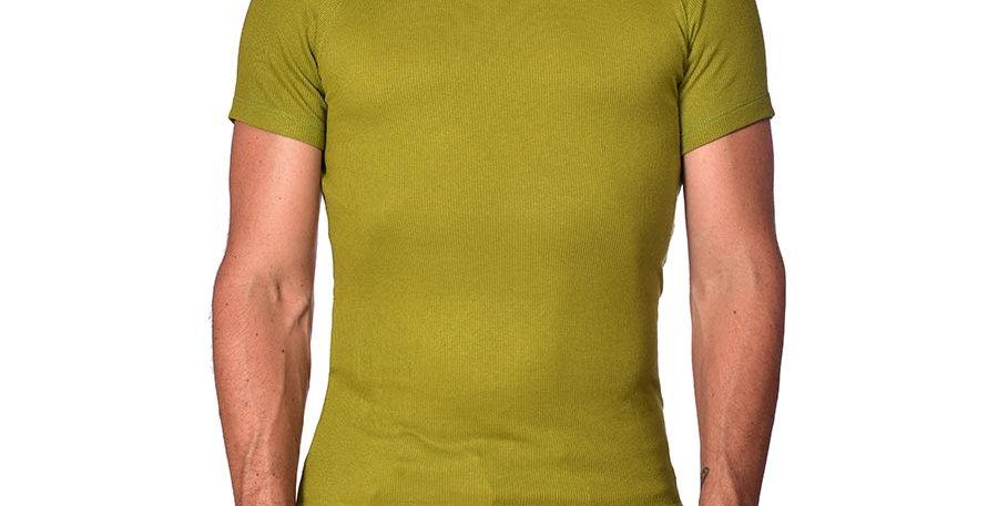 Camiseta super slim verde olivo