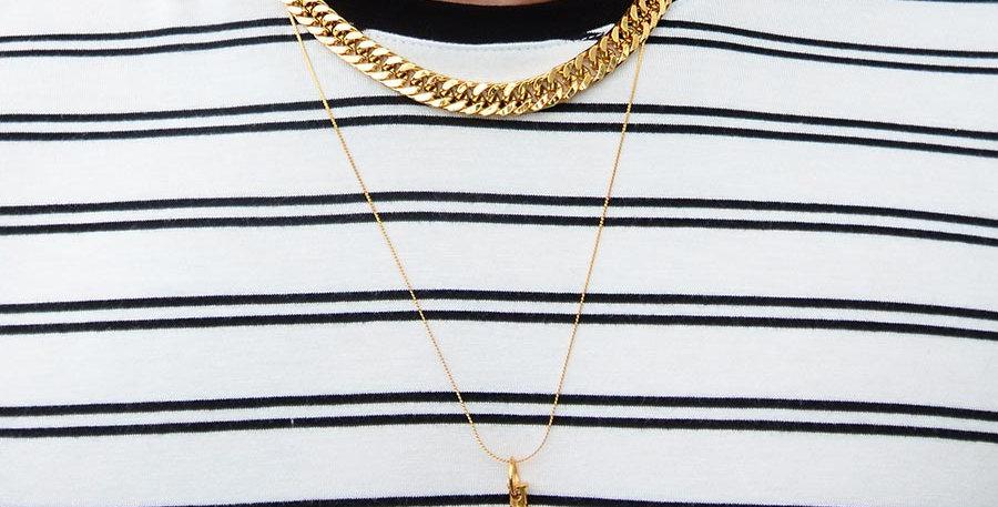 Set collares vogue + knife gold