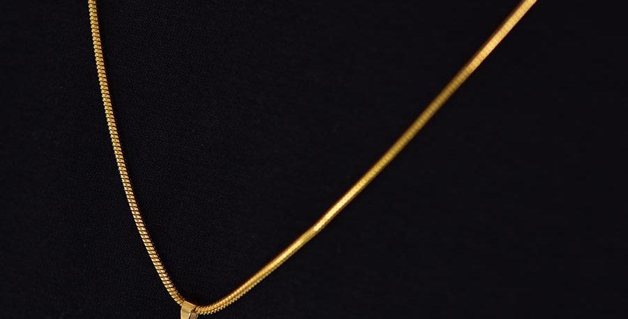 Set 2 collares 48cm + 60cm dije dorado