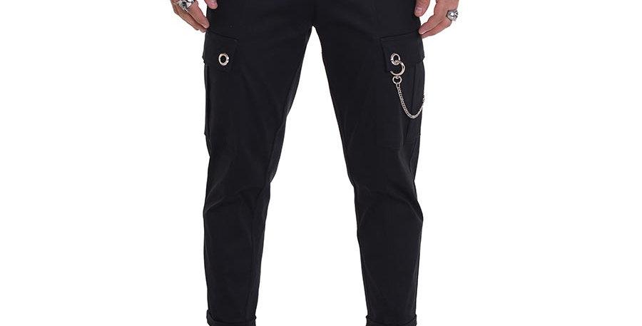 Pantalon cargo negro en dril