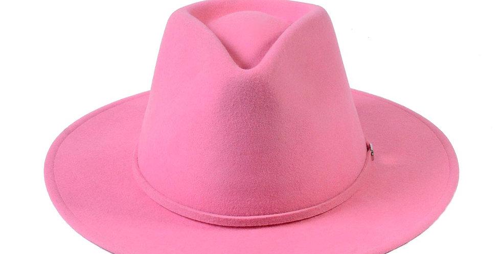 Sombrero western rosa fedora