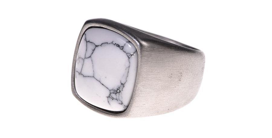 Anillo marmol silver