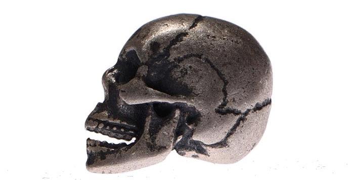 Arete skull plata S925