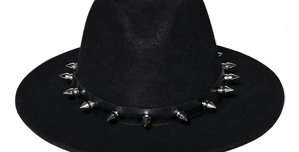 Sombrero western negro puas y cuero