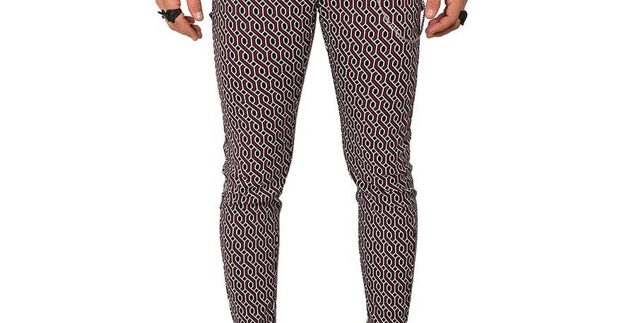 Pantalon skinny patterns dril stretch