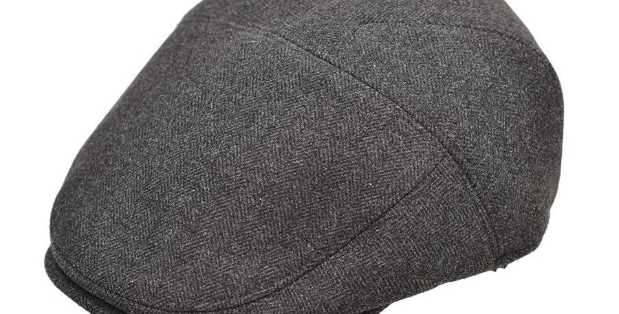 Boina flat cap gris