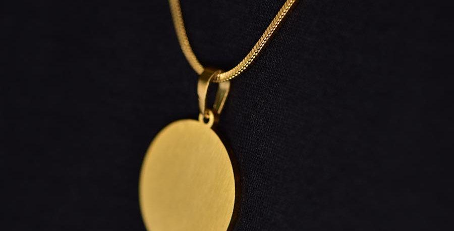 Collar circulo minimal dorado 60cm