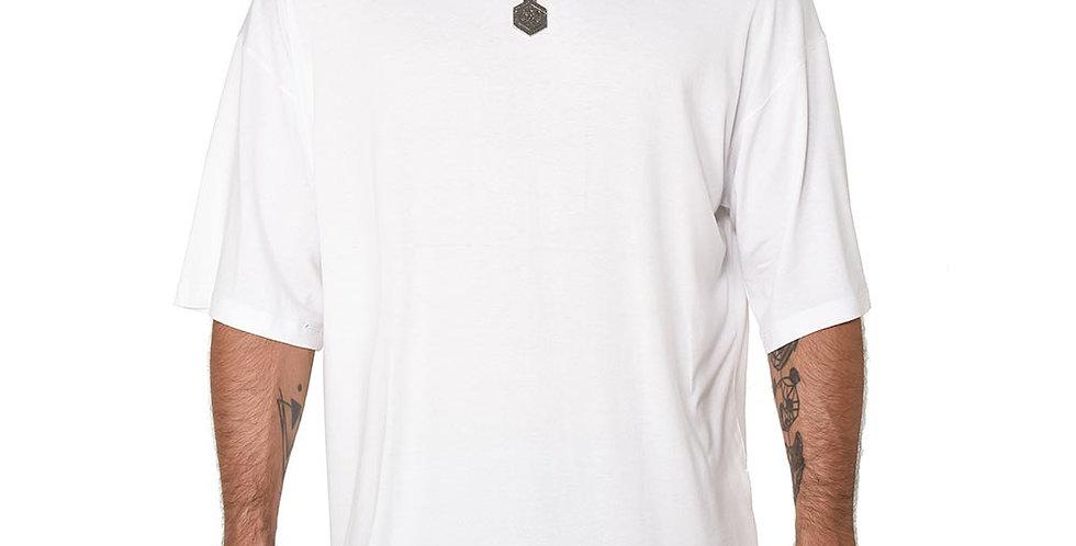Camiseta boxy fit oversize extragrande blanca