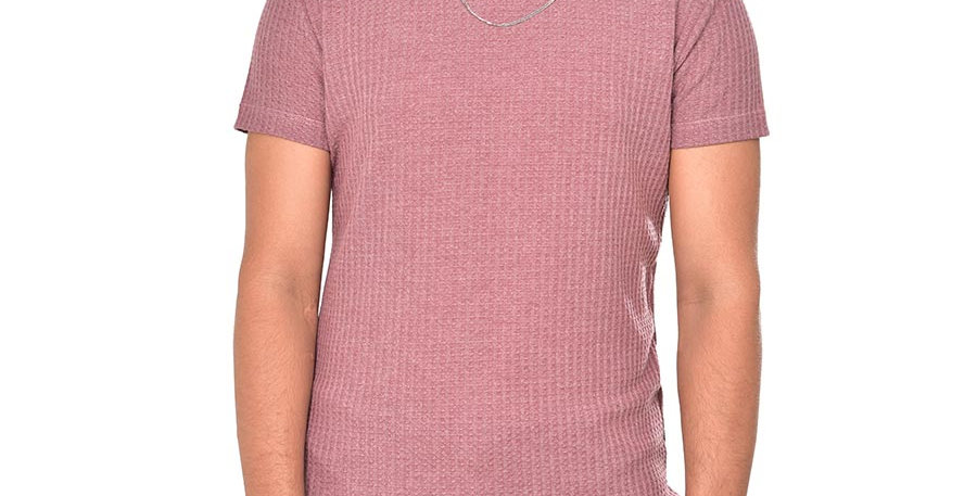 Camiseta tejida slim fit rosa