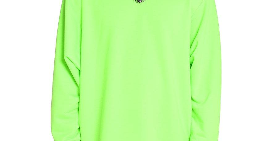 Buso verde neon long sleeve extragrande