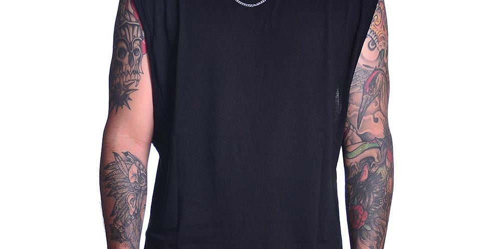 Camiseta sin mangas en negro