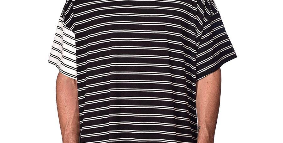Bluson oversize fighter stripes