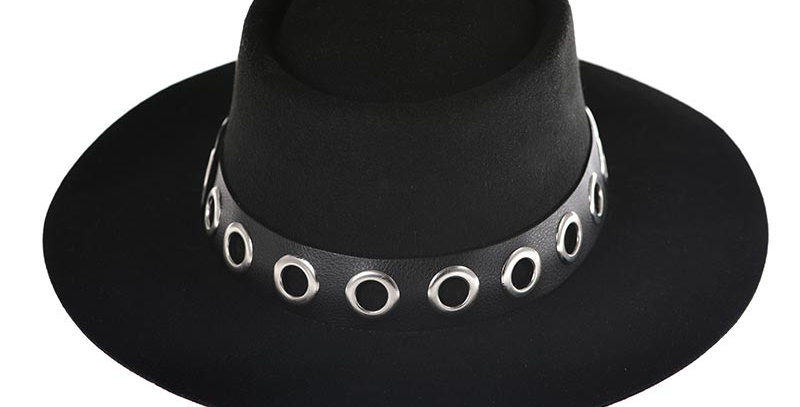 Sombrero cordobes negro ojaletes