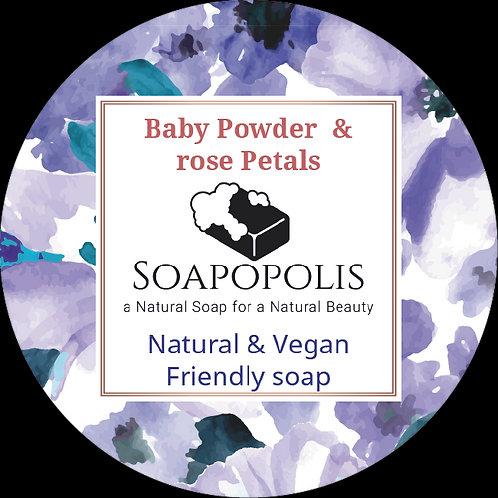 Baby Powder & Rose Petals soap