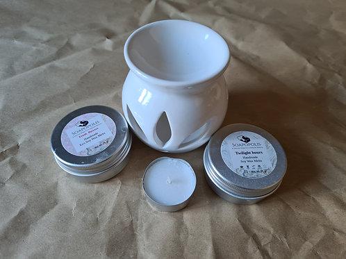 Burner and 2 handmade wax melt