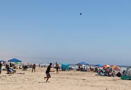 Outdoor recreation on the beach in Ocean