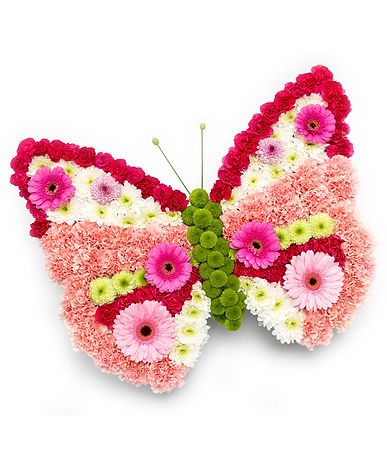 floral butterfly arrangement