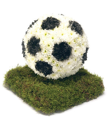 floral football arrangement