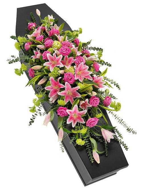 Pink Lilly Coffin Spray
