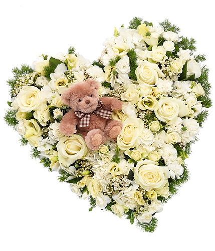 sympathy funeral flower heart