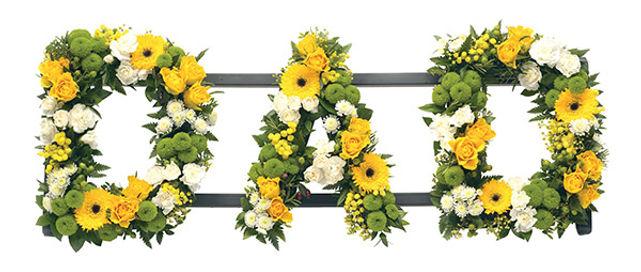 dad floral lettering