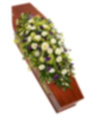 coffin funeral spray