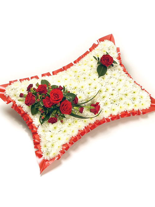 Pillow with Rose Spray