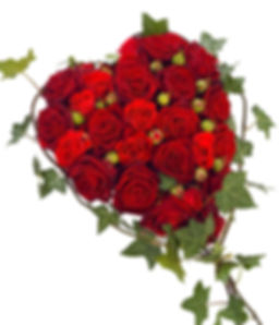 red rose heart funeral