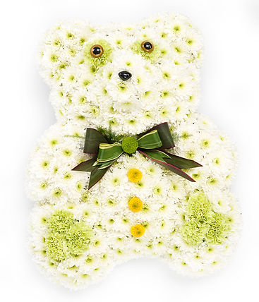 floral teddy arrangement